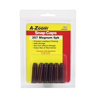 A-Zoom 357 Magnum Metal Snap Caps Series A - 6 Pack