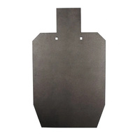 Black Carbon 12mm 50% IPSC Mini Silhouette Target Plate Bisalloy 500