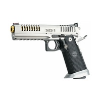 Bul Armory SAS II Air Pistol with Picatinny Rail - Silver and Gold (Stainless Steel with Tin Gold Plated Barrel)