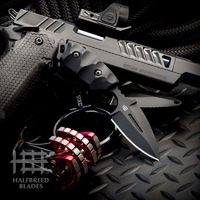 Halfbreed Blades CCK- 05 Compact Clearance Knife - BLACK