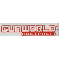 Gun World Australia Large Sticker Red