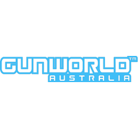 Gun World Australia Medium Sticker Light Blue