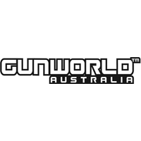 Gun World Australia Small Sticker Black