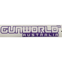 Gun World Australia Small Sticker Purple