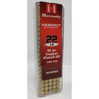 Hornady 22LR 40 Gr. HP Copper Plated 100 Pk