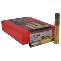 Hornady Unprimed Cases / Brass 470 Nitro - 20 PK