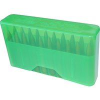 Mtm Slip-Top Rifle Ammo Box - 20 Round 22-250 243 Win 7.62X39 Clear Green