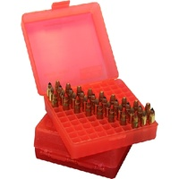 MTM 22 Magnum, 17 HMR Ammo Box 100 Round Flip-Top Red