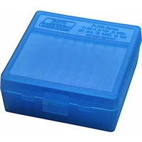 MTM Pistol Ammo Box 100 Round Flip-Top 38 - 357 - Blue