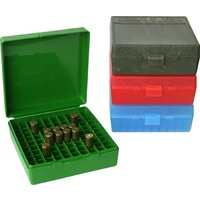 MTM Pistol Ammo Box 100 Round Flip-Top 41 44 45 LC - Green