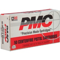 PMC 40 S&W 165Gr FMJ 50pk