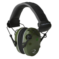 Radians R3400 Quad Mic Stereo Jack Earmuffs - Green / Black
