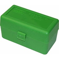 MTM Rifle Ammo Box - 50 Round Flip-Top 243 308 Winchester 220 Swift - Green