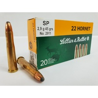 Sellier & Bellot 22 Hornet 45gr SP 20pk