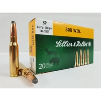 Sellier & Bellot 308WIN. 180gr SP