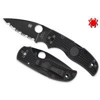 Spyderco Native 5 Lightweight Black - Black Serrated Blade