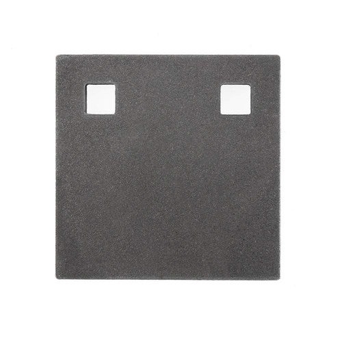 Black Carbon 12mm Square Target Plate 100 X 100mm Bisalloy 500