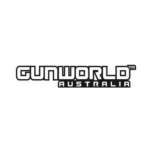Gun World Australia Large Sticker Black