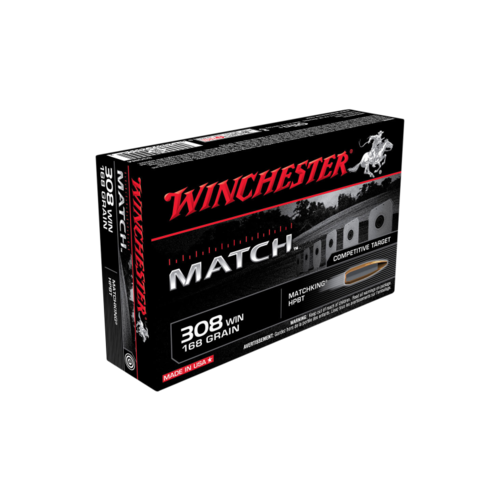 Winchester Supreme Match 308Win 168 Gr. Sierra BTHP (Boat Tail Hollow Point) 20 Pack