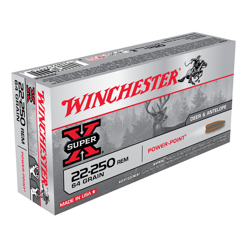 Winchester Super X 22-250 Rem. 64 Gr. Power Point 20 Pack