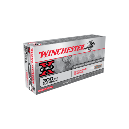 Winchester Super X 300 Blackout 200 Gr. Subsonic Power Point 20 Pack